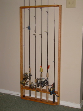 fishing rod rack - front